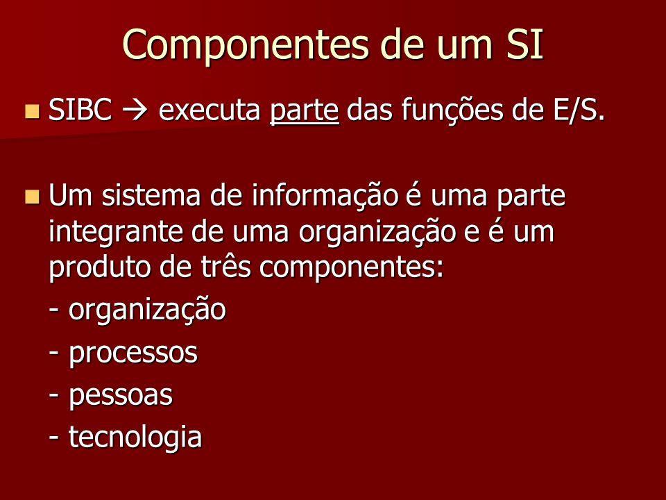 Componentes de um SI SIBC  executa parte das funções de E/S.