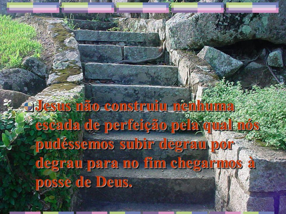 Jesus não construiu nenhuma escada de perfeição pela qual nós pudéssemos subir degrau por degrau para no fim chegarmos à posse de Deus.