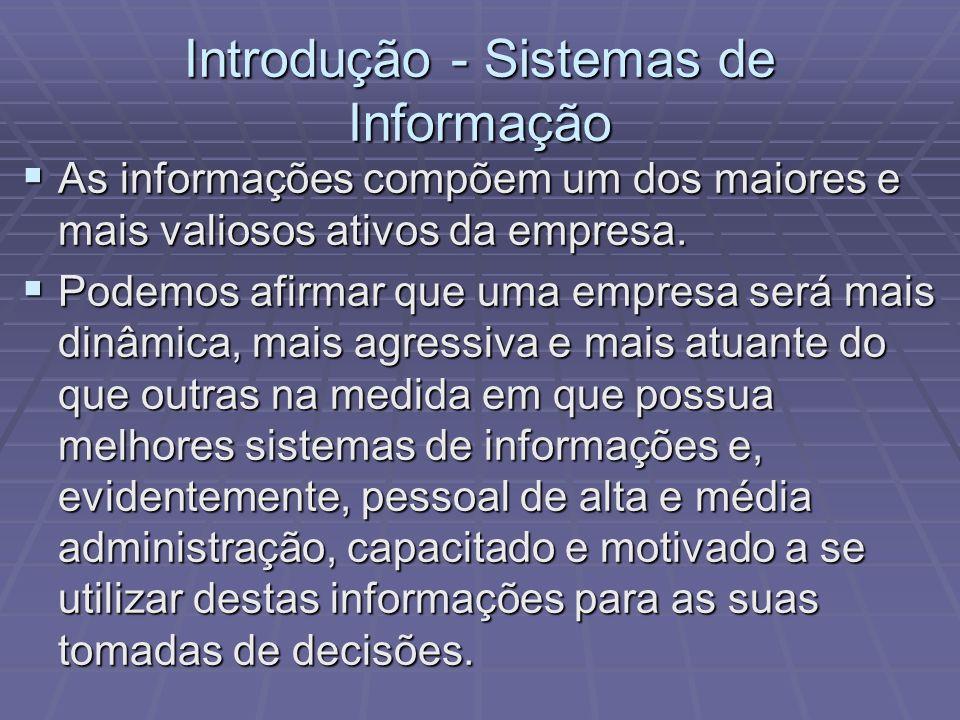Introdução - Sistemas de Informação