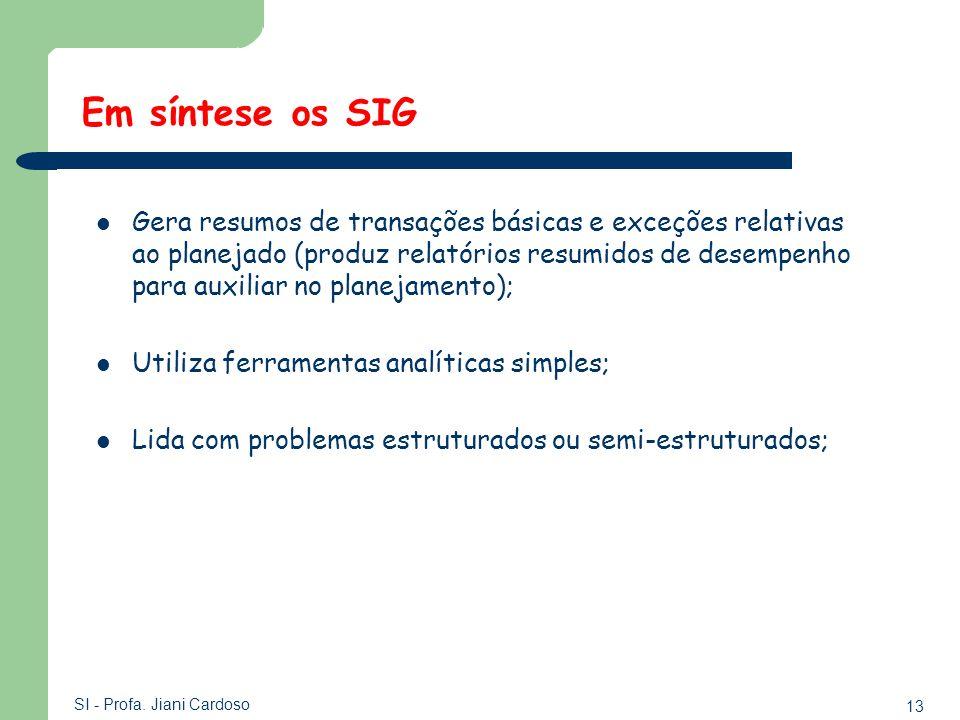 Em síntese os SIG