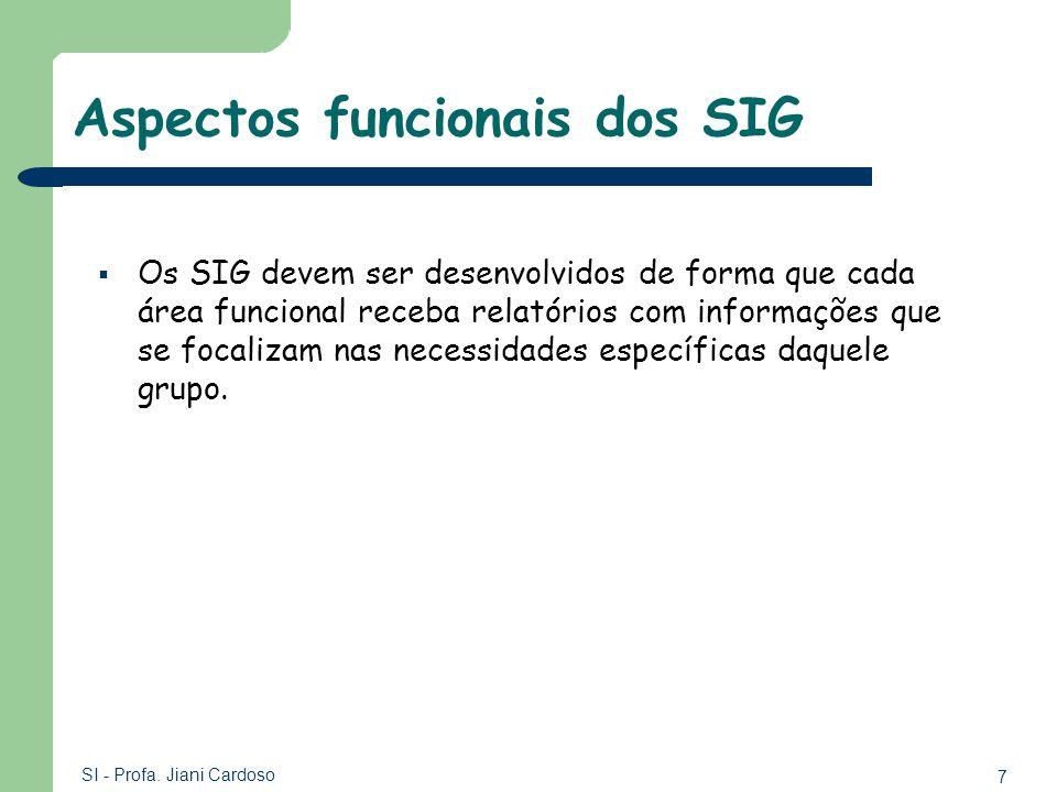 Aspectos funcionais dos SIG