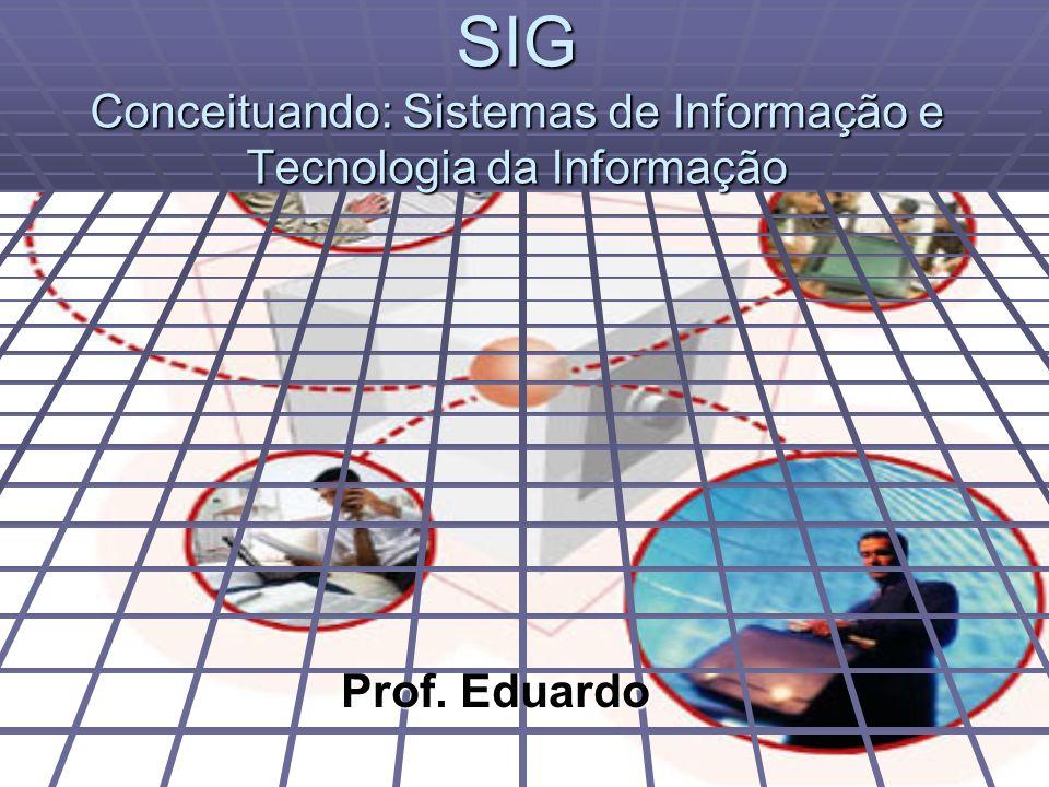 SIG Conceituando: Sistemas de Informação e Tecnologia da Informação