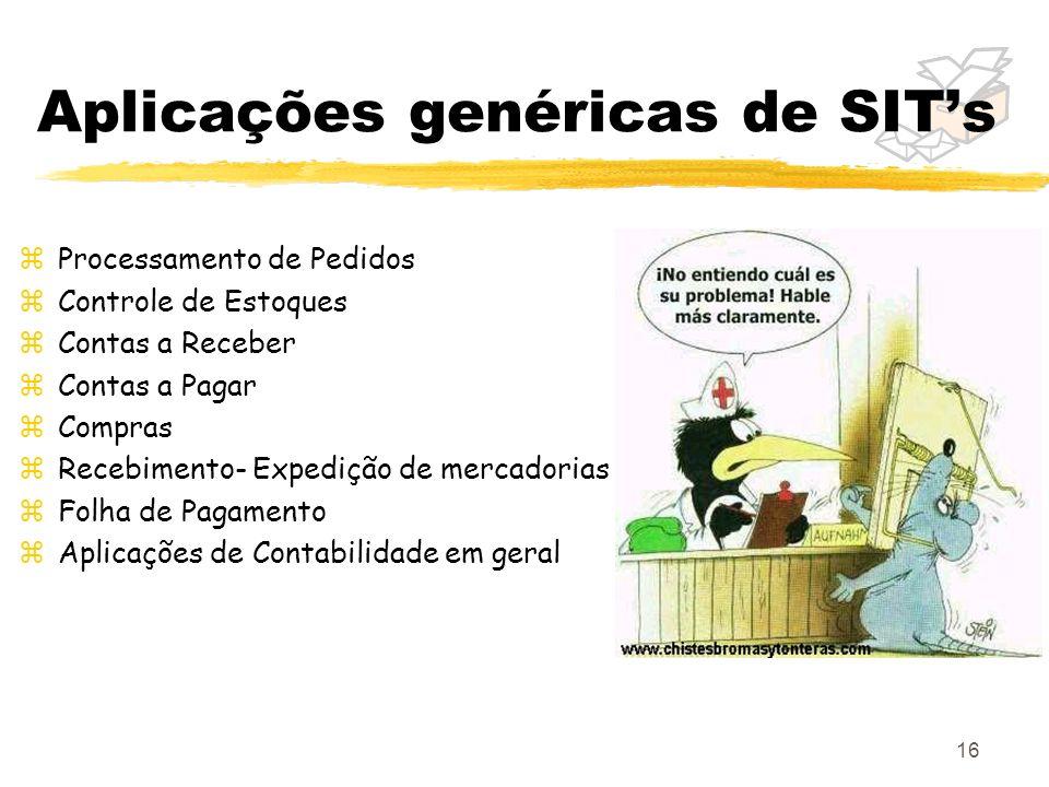 Aplicações genéricas de SIT's
