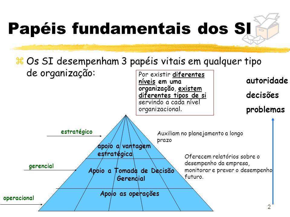 Papéis fundamentais dos SI