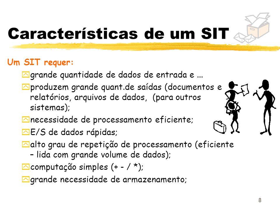 Características de um SIT
