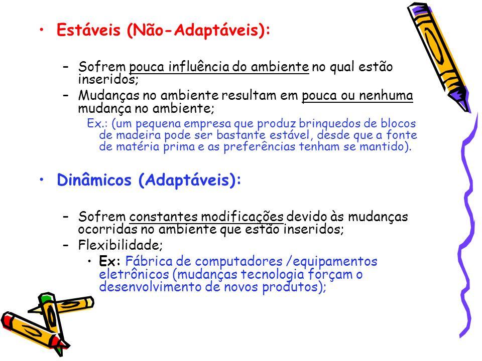 Estáveis (Não-Adaptáveis):