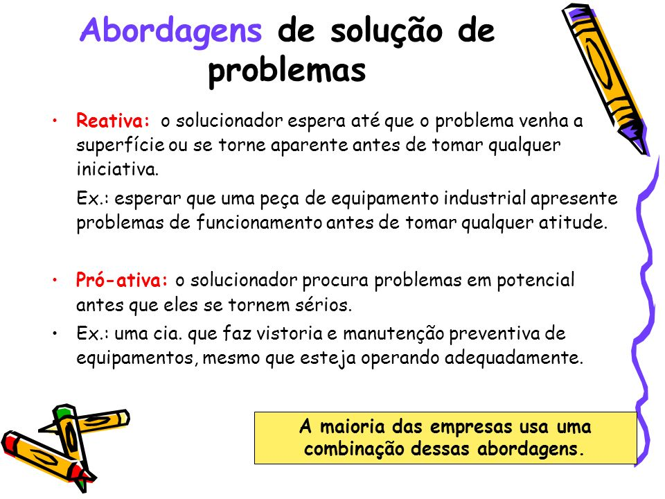 Abordagens de solução de problemas