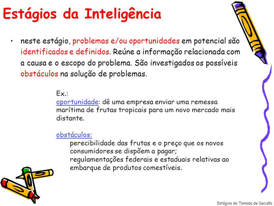 Estágios da Inteligência