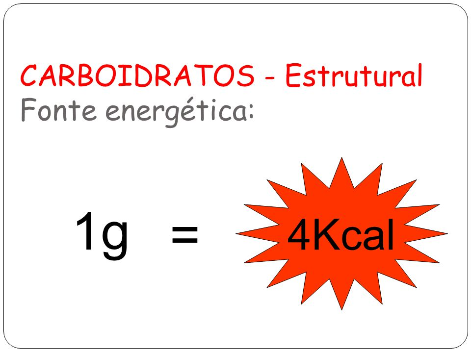 CARBOIDRATOS - Estrutural Fonte energética: