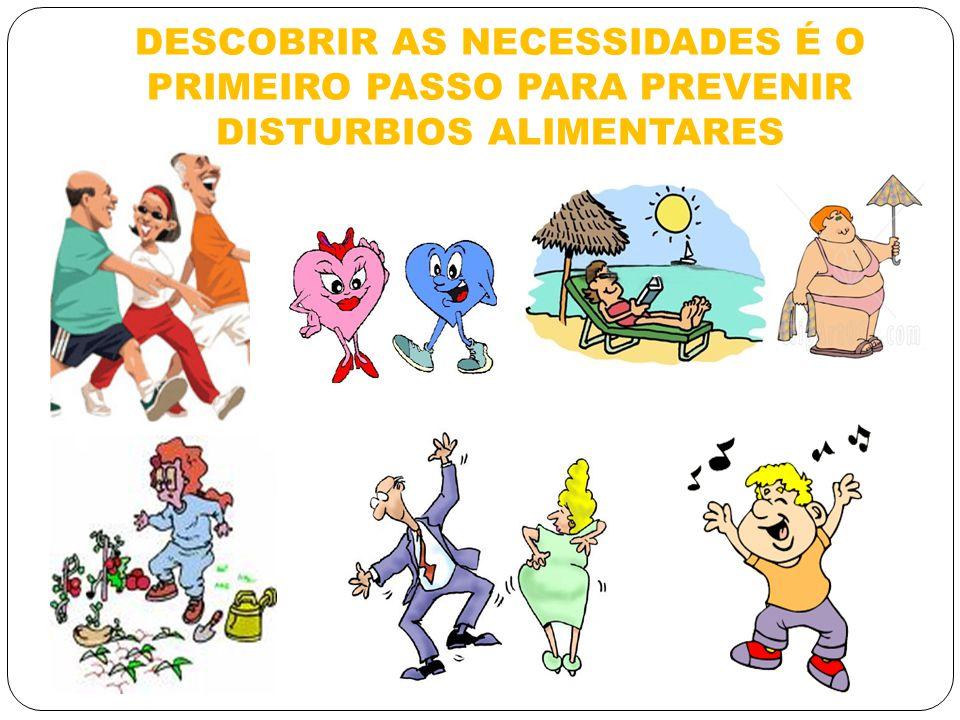 DESCOBRIR AS NECESSIDADES É O PRIMEIRO PASSO PARA PREVENIR DISTURBIOS ALIMENTARES