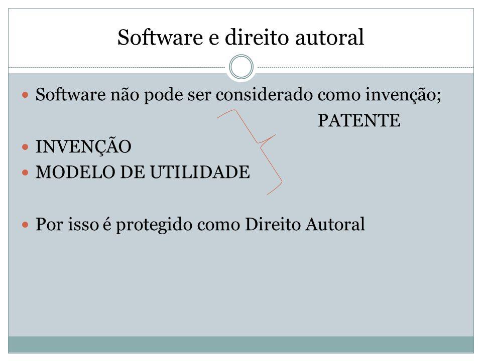 Software e direito autoral
