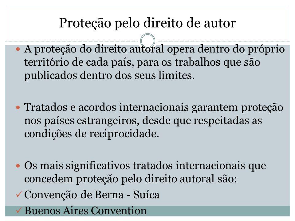 Proteção pelo direito de autor