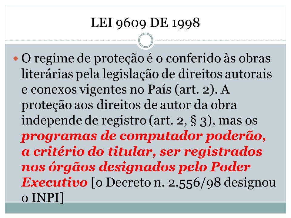 LEI 9609 DE 1998