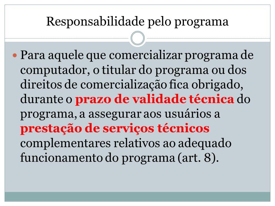 Responsabilidade pelo programa