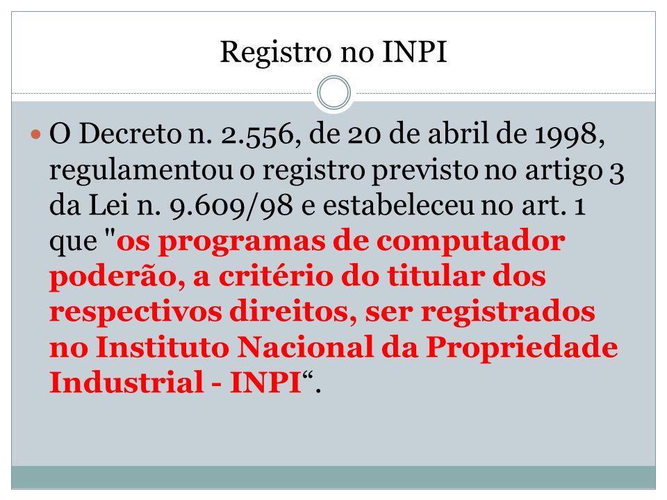 Registro no INPI