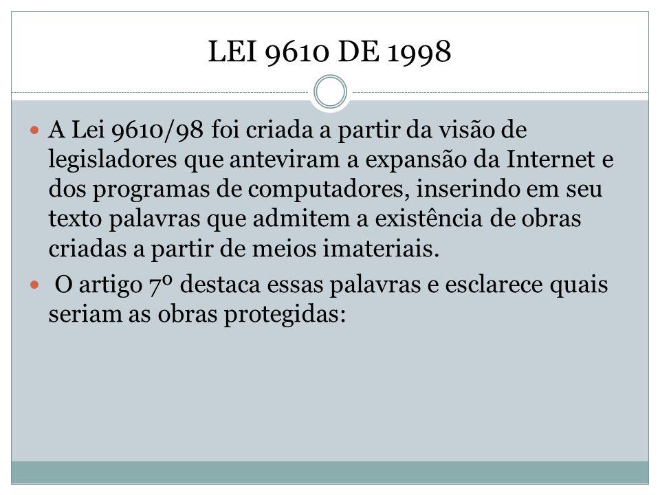 LEI 9610 DE 1998