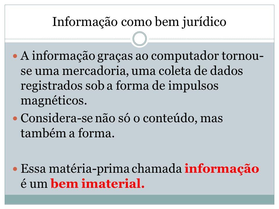 Informação como bem jurídico