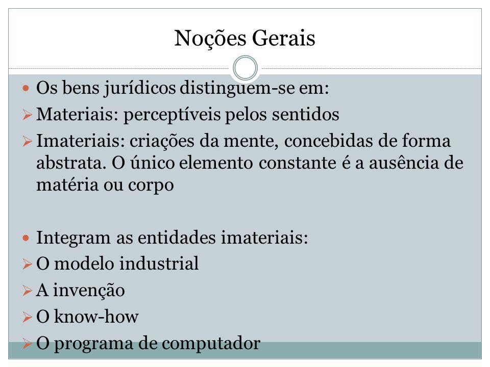 Noções Gerais Os bens jurídicos distinguem-se em: