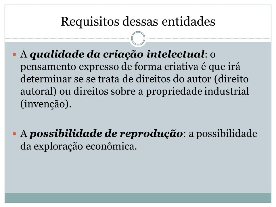 Requisitos dessas entidades
