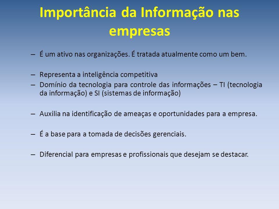 Importância da Informação nas empresas