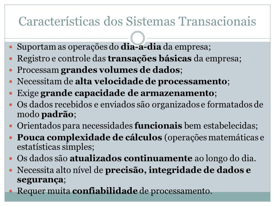 Características dos Sistemas Transacionais