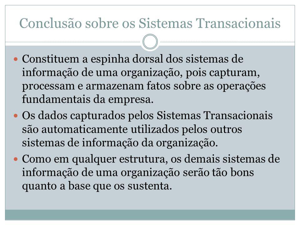 Conclusão sobre os Sistemas Transacionais