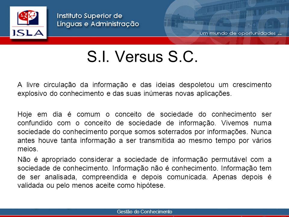S.I. Versus S.C.