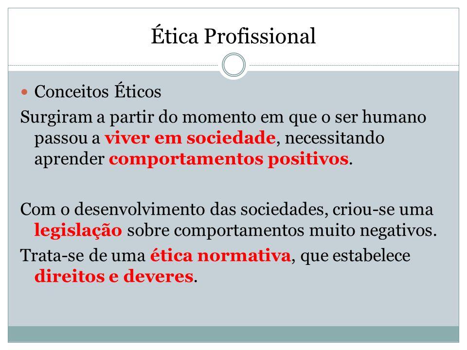 Ética Profissional Conceitos Éticos