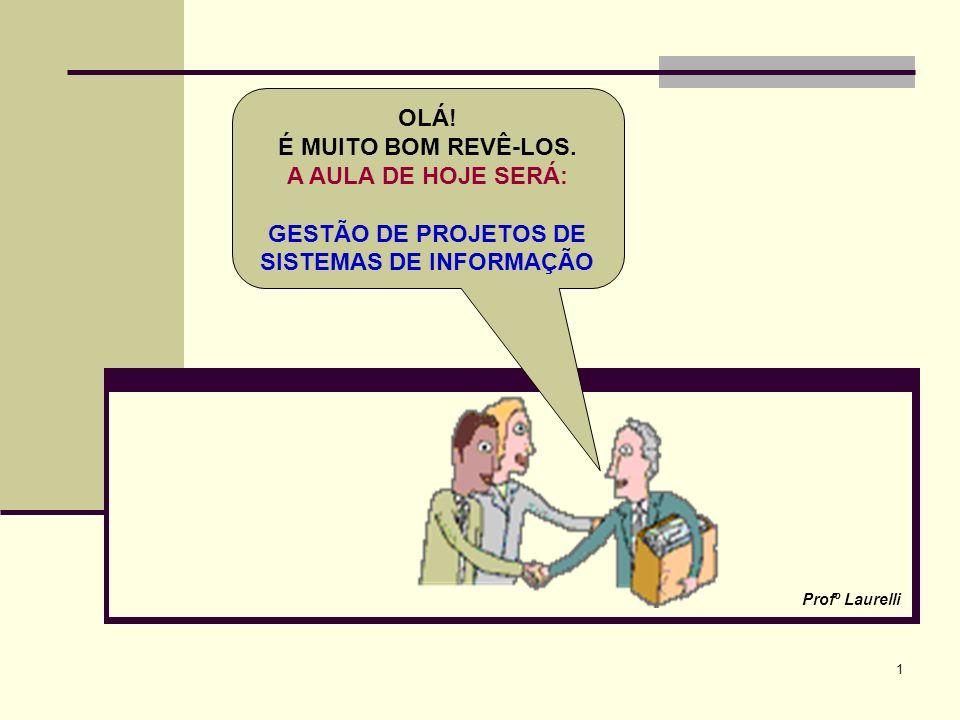 GESTÃO DE PROJETOS DE SISTEMAS DE INFORMAÇÃO