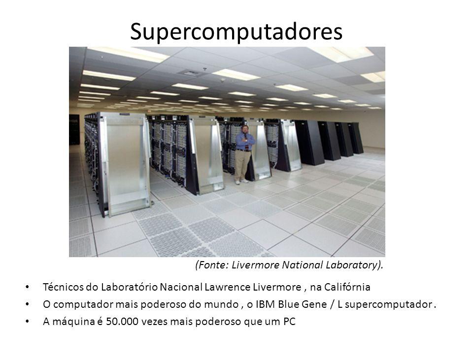 Supercomputadores (Fonte: Livermore National Laboratory).