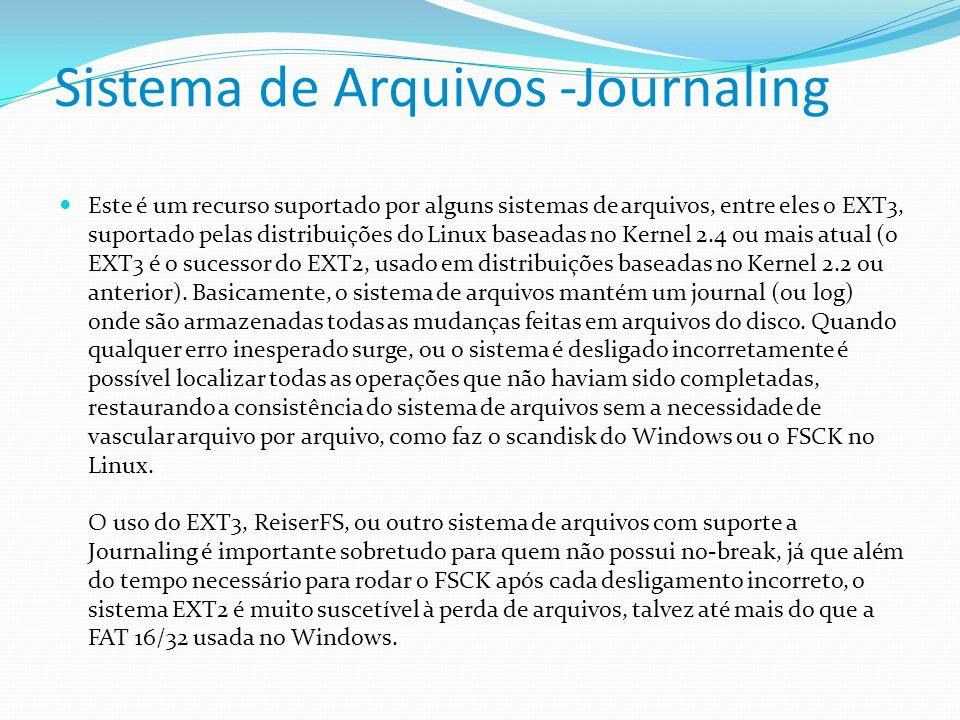 Sistema de Arquivos -Journaling
