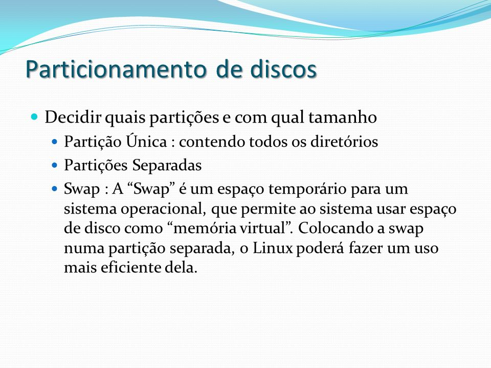 Particionamento de discos