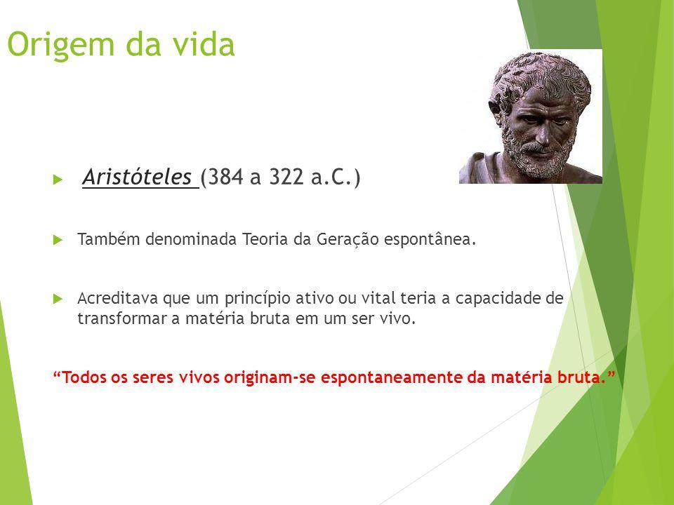 Origem da vida Aristóteles (384 a 322 a.C.)