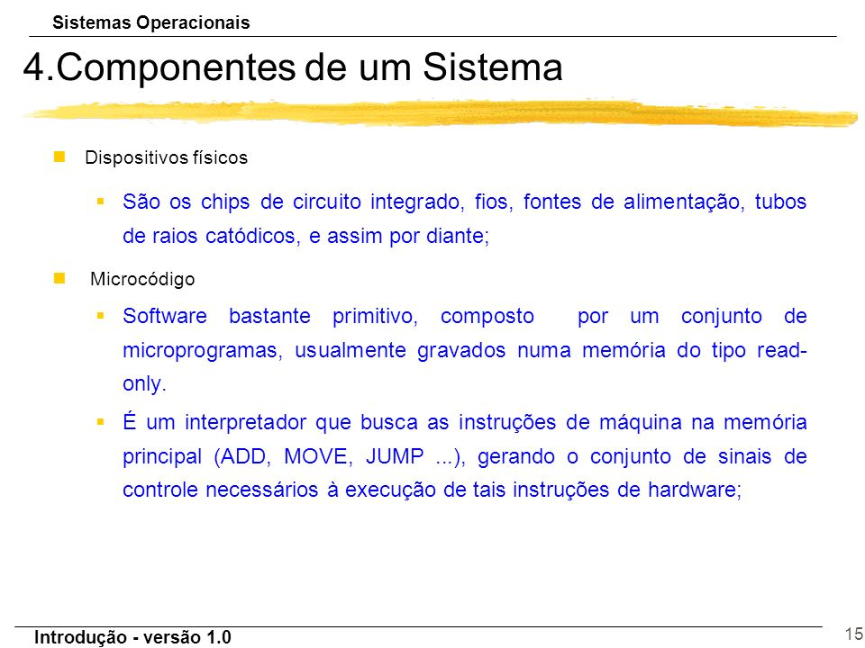 4.Componentes de um Sistema