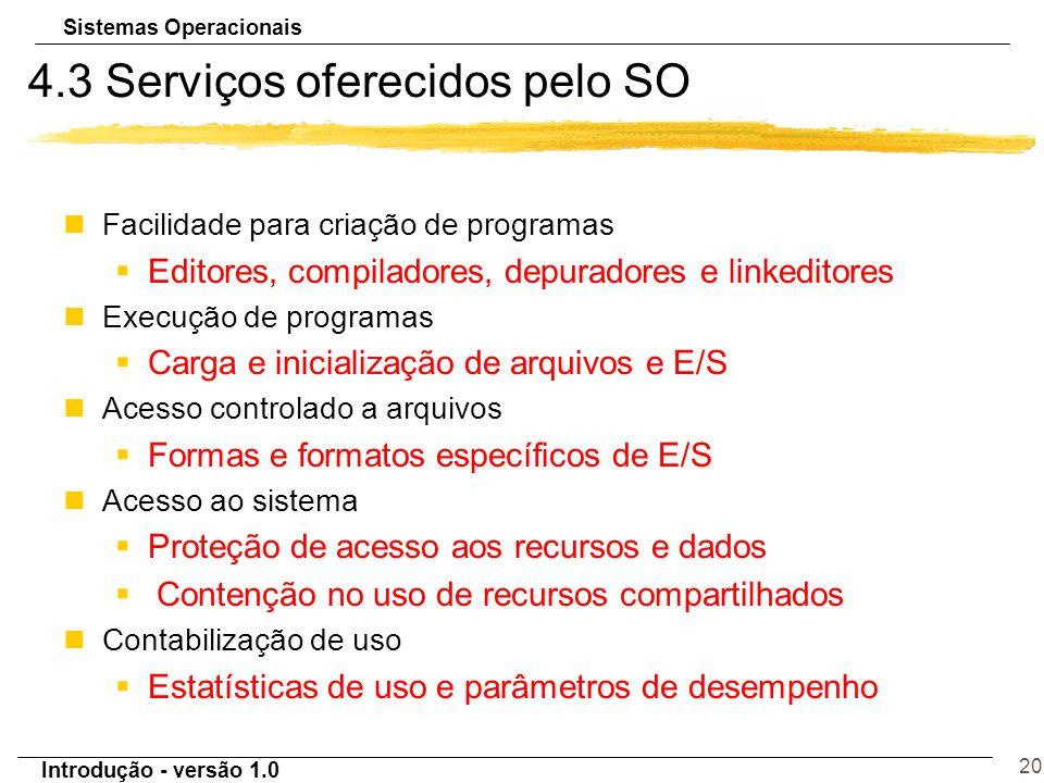 4.3 Serviços oferecidos pelo SO