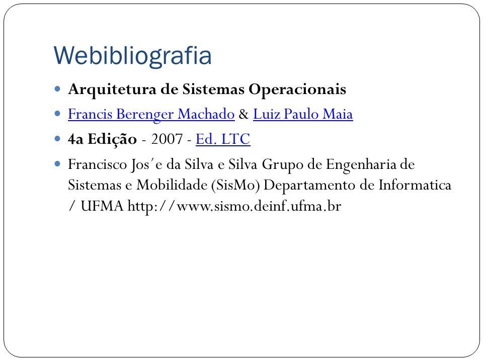 Webibliografia Arquitetura de Sistemas Operacionais