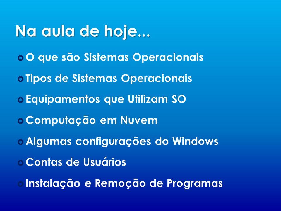 Na aula de hoje... O que são Sistemas Operacionais