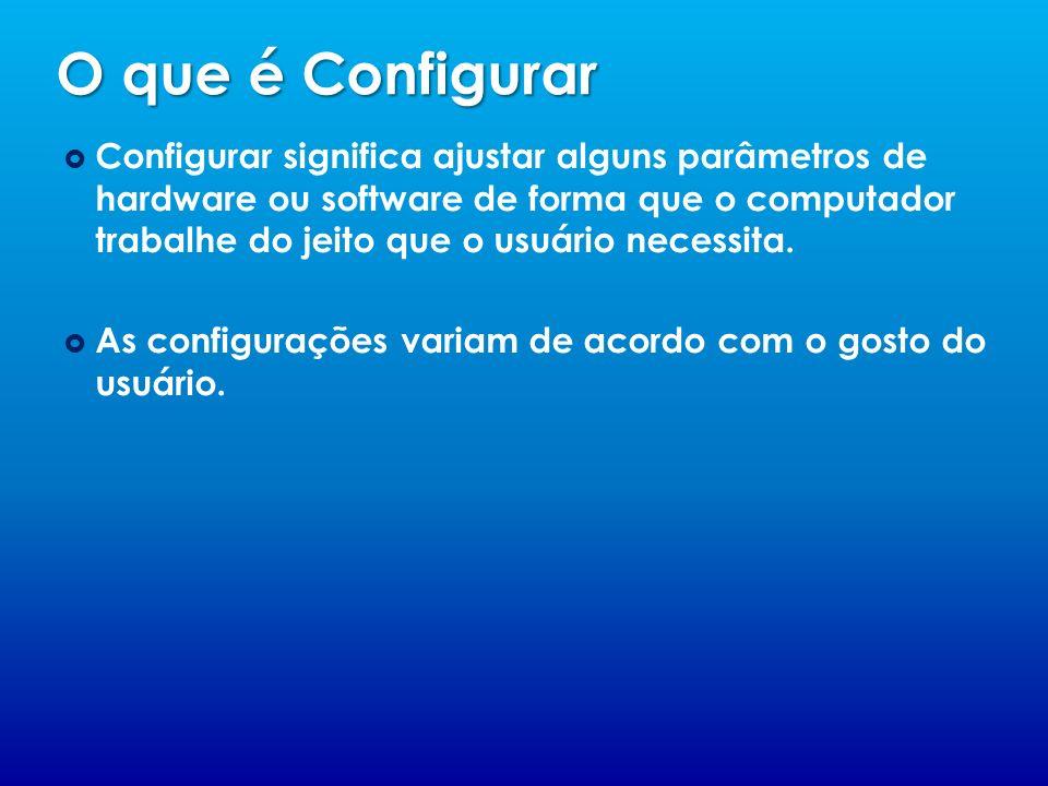 O que é Configurar