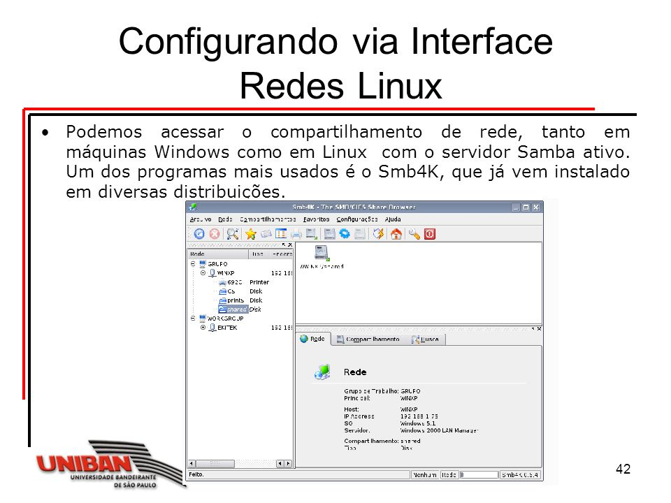 Configurando via Interface Redes Linux