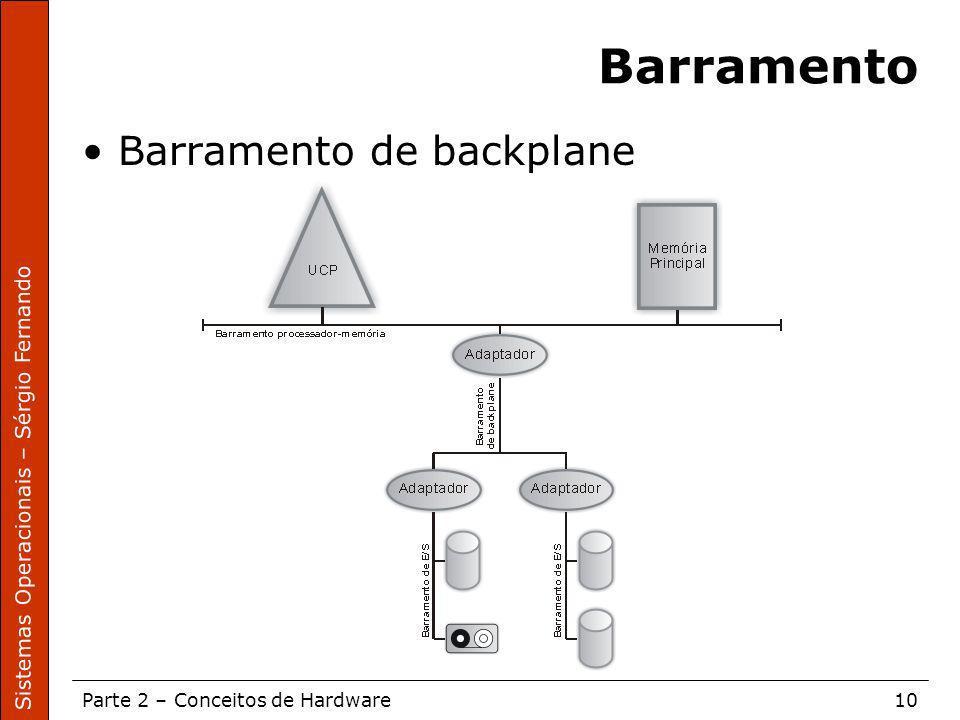 Barramento Barramento de backplane