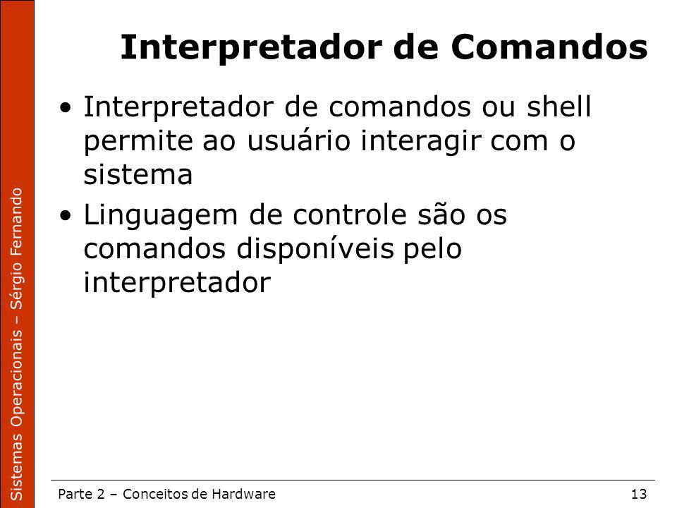 Interpretador de Comandos