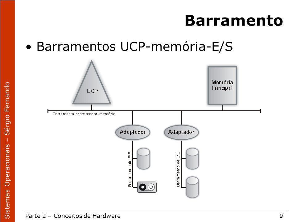 Barramento Barramentos UCP-memória-E/S