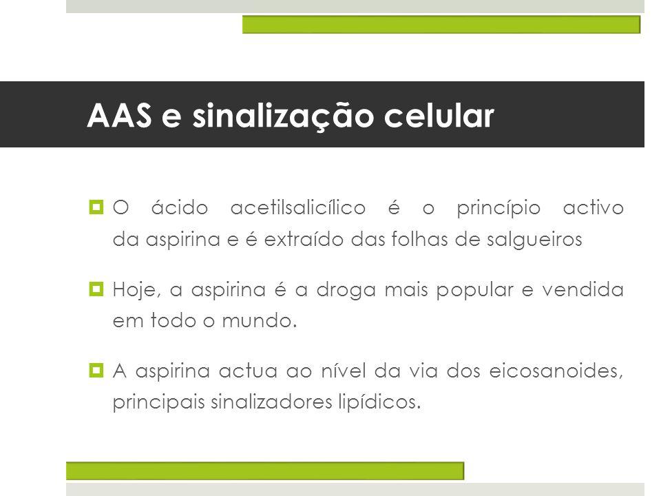 AAS e sinalização celular