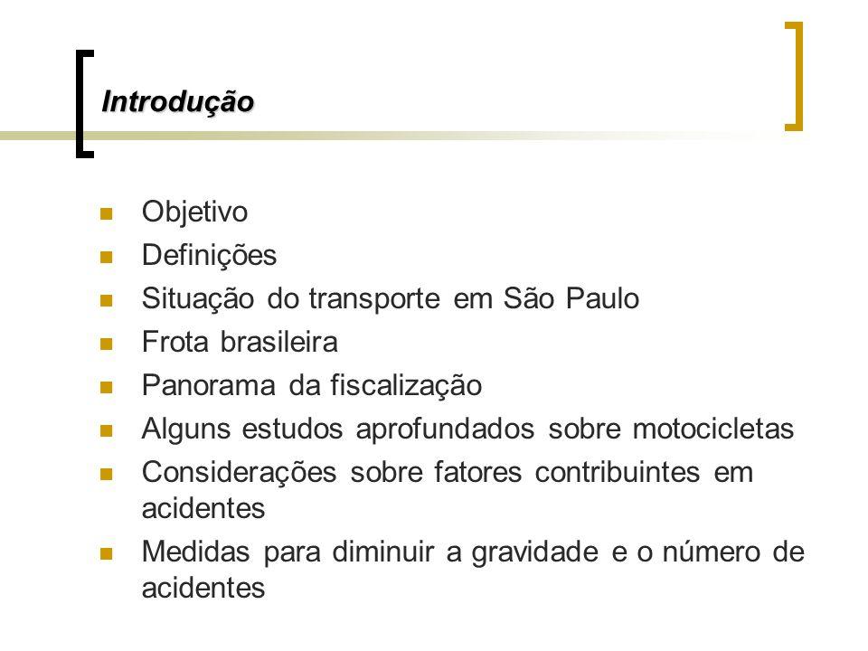 IntroduçãoObjetivo. Definições. Situação do transporte em São Paulo. Frota brasileira. Panorama da fiscalização.