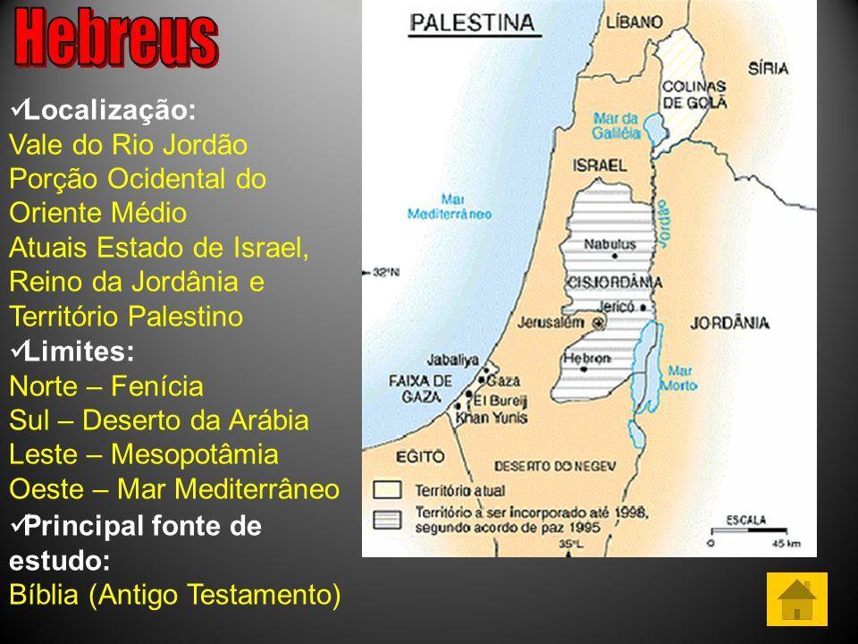 Hebreus Localização: Vale do Rio Jordão