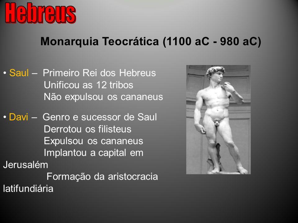 Hebreus Monarquia Teocrática (1100 aC - 980 aC)