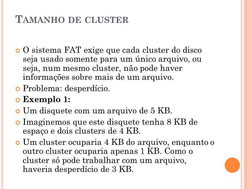 Tamanho de cluster