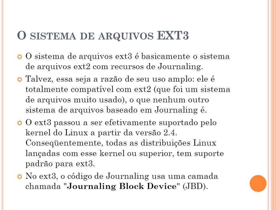 O sistema de arquivos EXT3