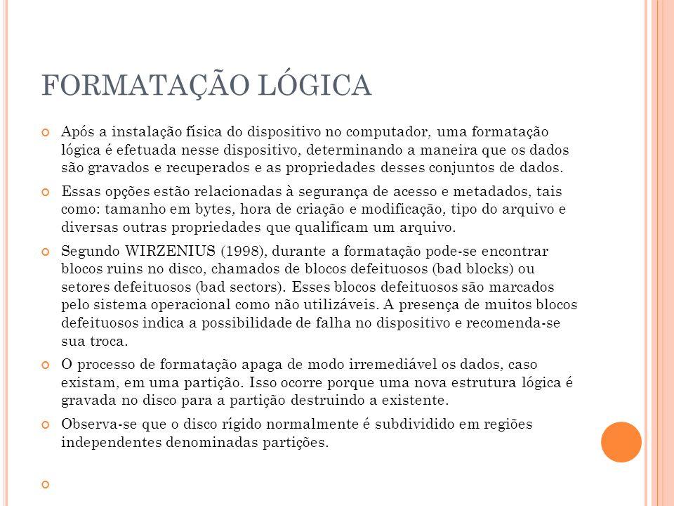 FORMATAÇÃO LÓGICA
