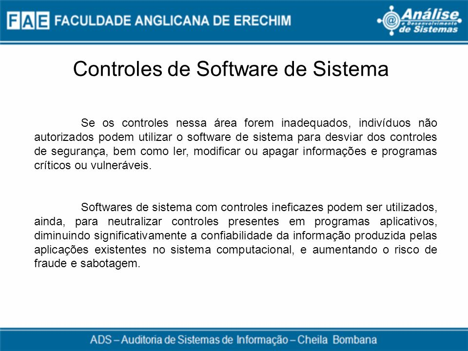 Controles de Software de Sistema